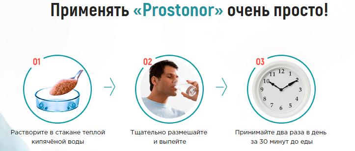 Инструкция по применению капель Prostonor
